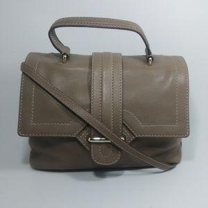 TOD'S Passante Patta Tan Leather Media Satchel Bag